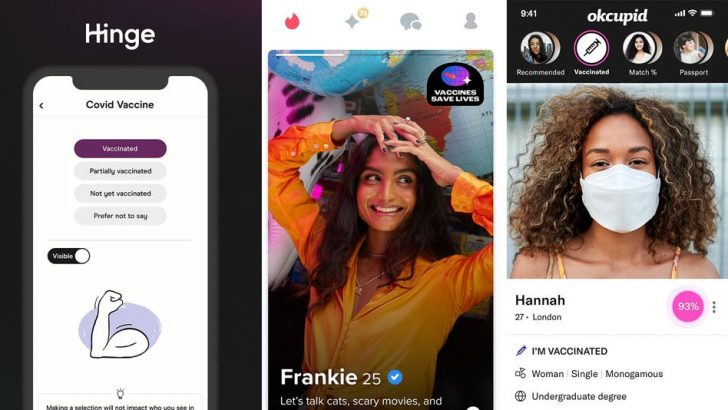 Hinge, Tinder, OkCupid encourage UK daters to show COVID-19 vaccination status