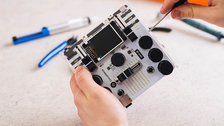 Produce your own tracks on a DIY mixer with this kit